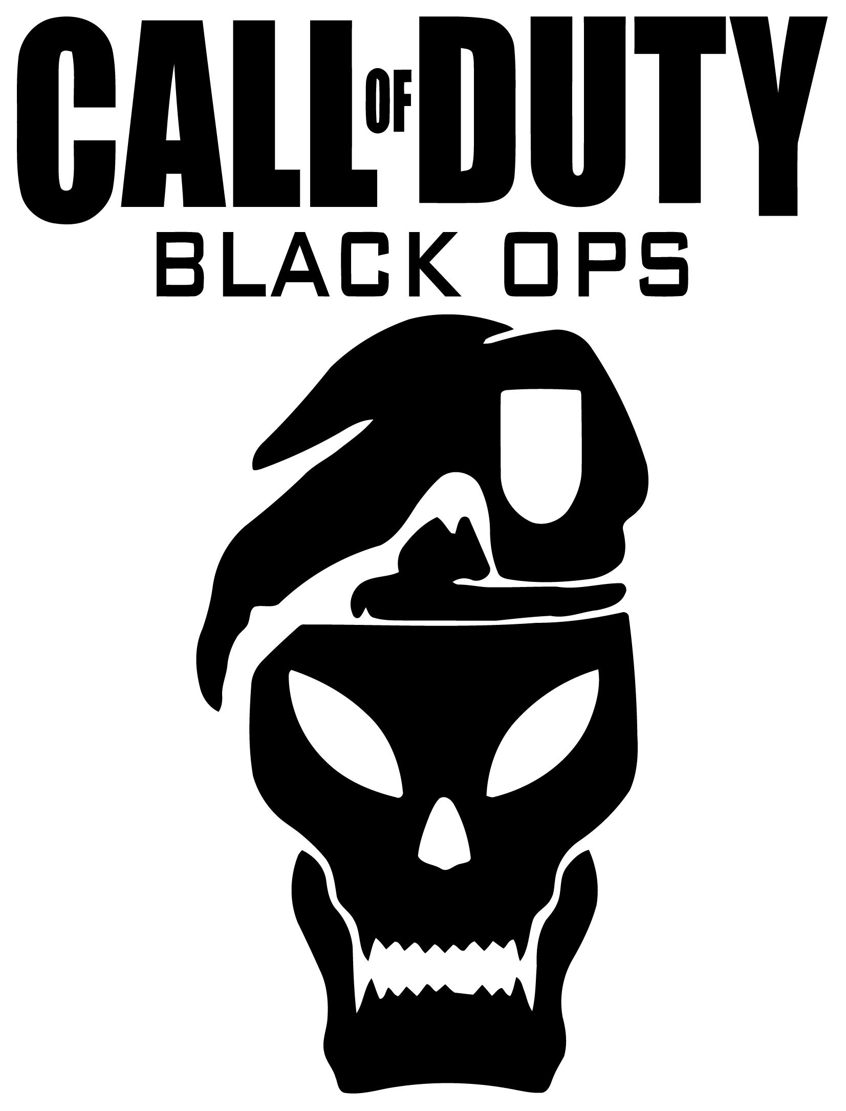 Call Of Duty Black Ops Wall Sticker With Skull Wall Sticker Usa